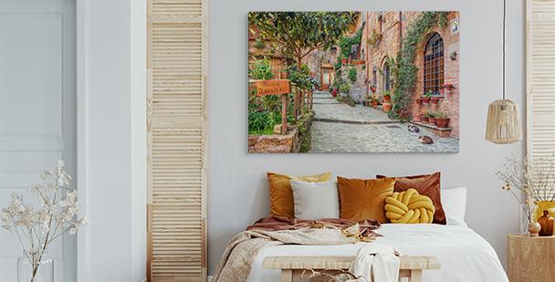 Panoramatavla över Toskanien