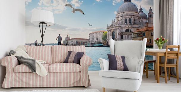 Panoramisk fototapet med Venedig