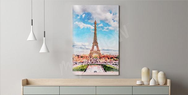 Pastelltavla av Paris
