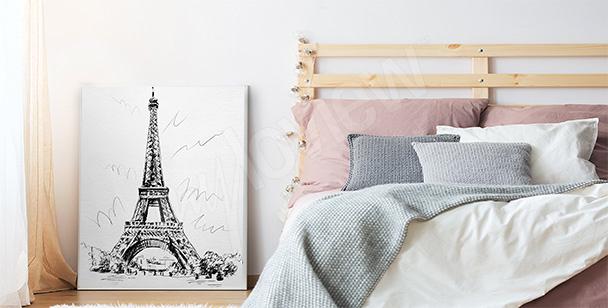 Romantisk affisch till sovrummet
