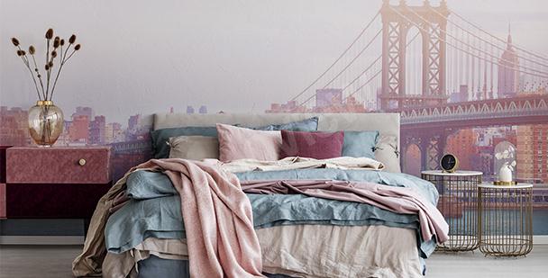 Romantisk fototapet till sovrummet