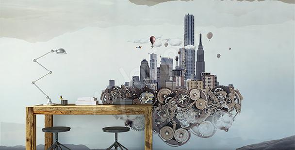 Rumslig fototapet: futurism