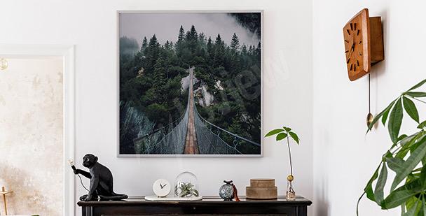 Rymlig affisch med bro