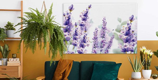 Subil canvastavla i floral stil