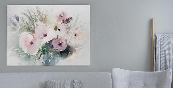 Subtil tavla i akvarell