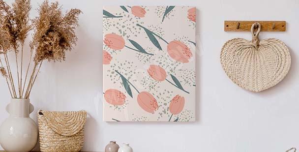 Tavla i minimalistisk stil