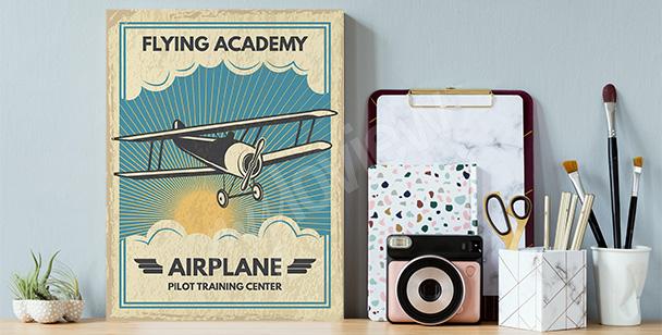 Tavla med bild på flygplan