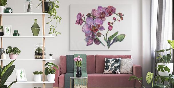 Tavla med lila orkidé