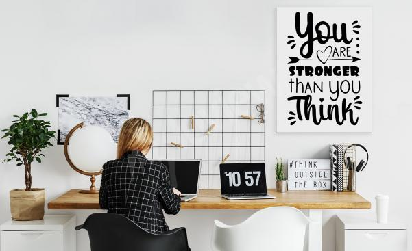 Tavla med motivation till kontoret