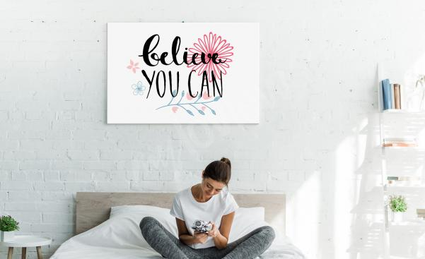 Tavla med motivation till sovrummet