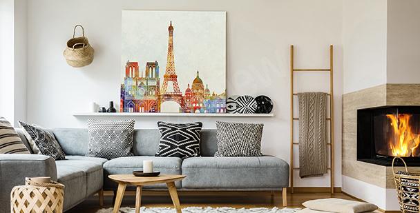 Tavla med Paris i akvarell