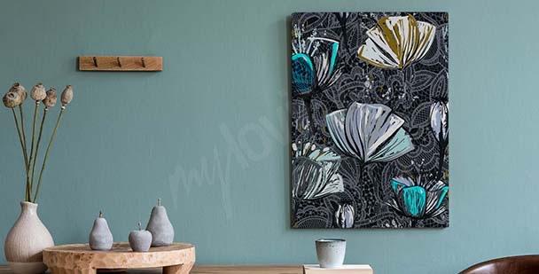 Tavla med tulpaner i akvarell är en ovanlig