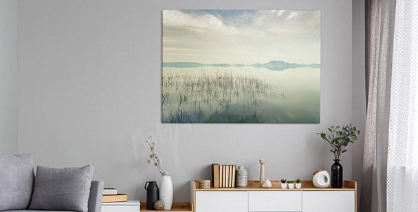 Tavla med utsikt över Balaton sjön