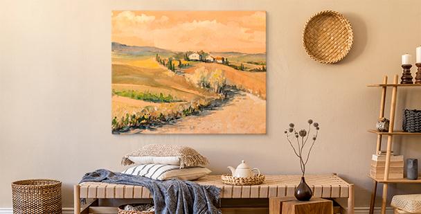 Toscana akvarellmålning
