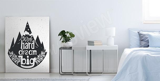 Typografisk affisch med skog