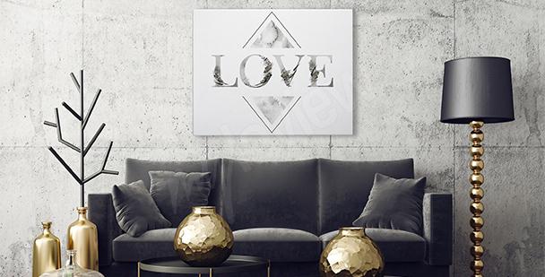 Typografisk canvastavla Love