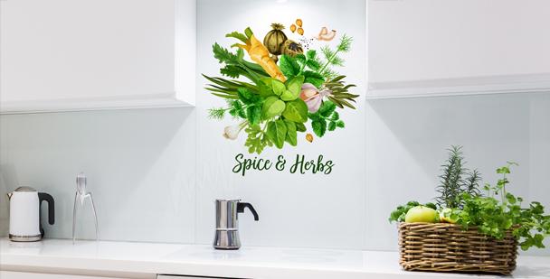 Typografisk väggdekor till köket
