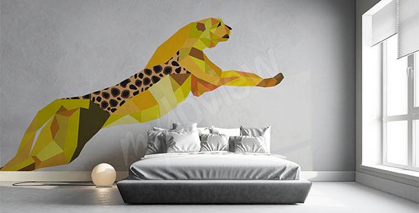 Väggdekor en geometrisk leopard