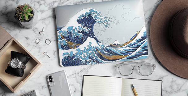 Väggdekor Hokusai - Stor våg