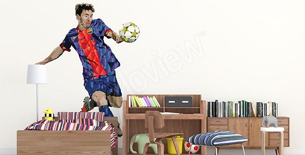 Väggdekor med Leo Messi