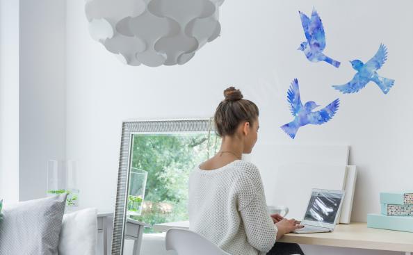 Väggdekor minimalistisk stil i akvarell