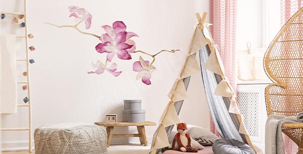 Väggdekor orkidé i akvarell