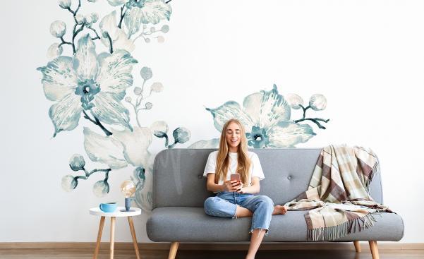 Väggdekor orkidéer till vardagsrummet