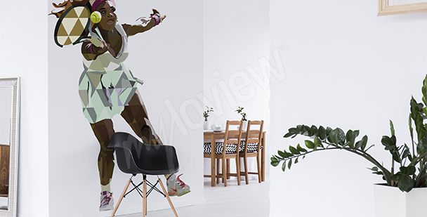 Väggdekor Serena Williams