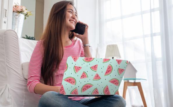 Väggdekor till den bärbara datorn vattenmeloner