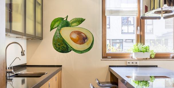 Väggdekor till köket med avokado