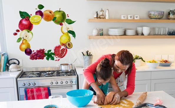 Väggdekor till köket med frukter