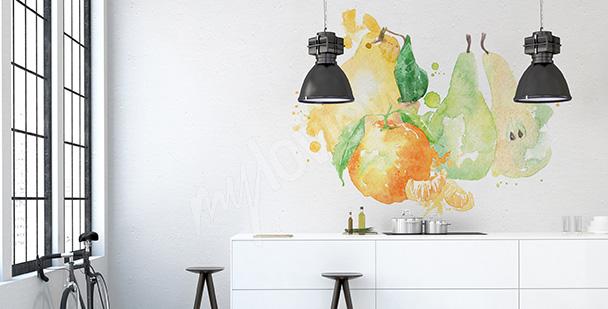 Väggdekor till köket med höstfrukter