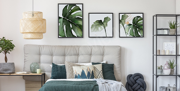 Växtlig affisch till sovrummet